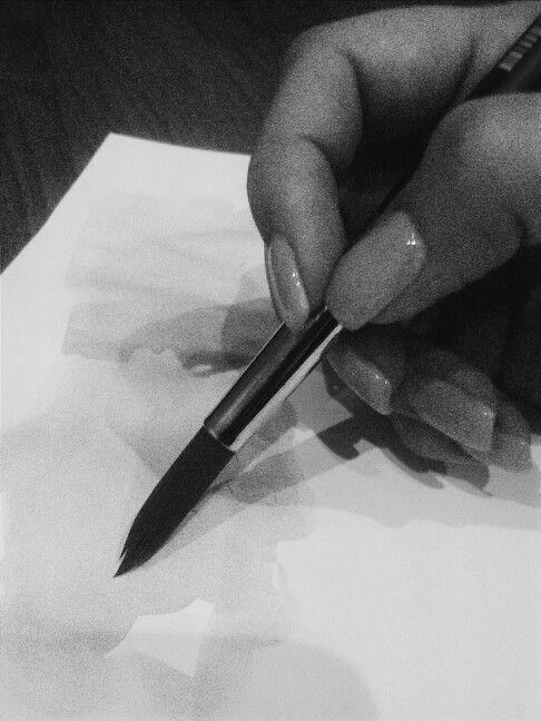 painting . nails. blacknwhite.