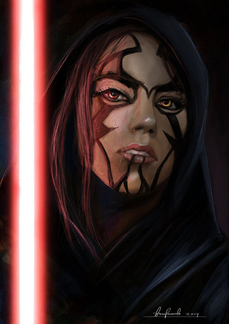 Star Wars girl Sith, sketch. by padraven.deviantart.com on @DeviantArt