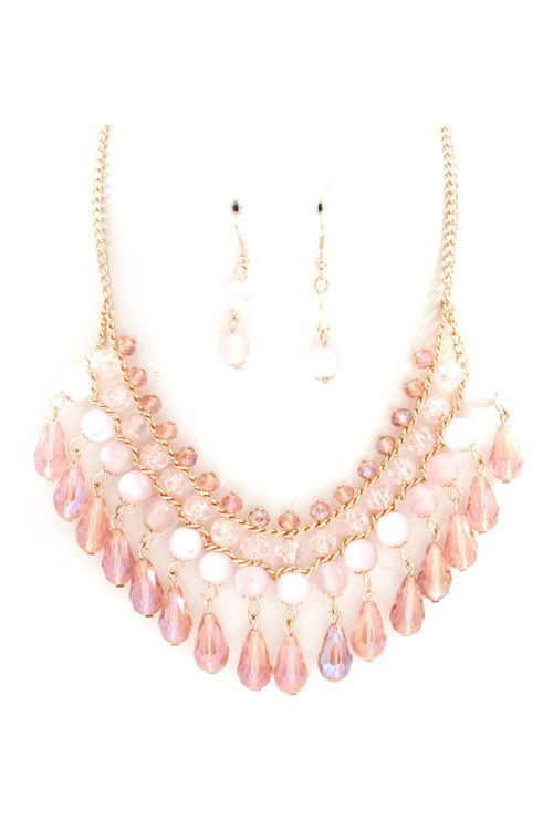 Lucite Hailey Necklace in Aspen. The perfect necklace to give an LBD a glam-tastic look.