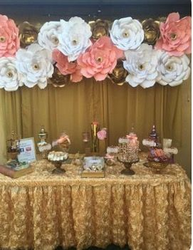 Candy bar con flores