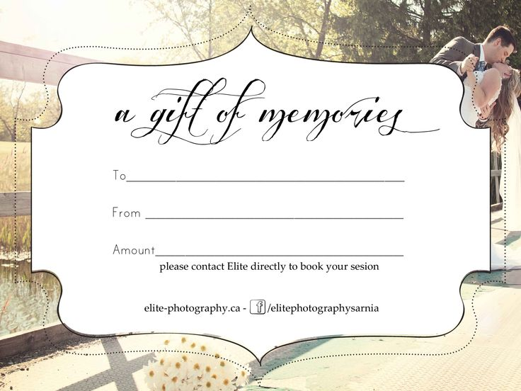 8 best Gift certificates images on Pinterest Gift certificates - photography gift certificate template