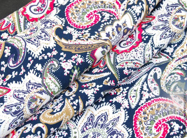 Ткань твил пейсли №2 для шитья одежды, платьев, ткань для  рукоделия - ФУТКА  - Фурнитура и ткани, Юлия - Ярмарка Мастеров http://www.livemaster.ru/item/14870477-materialy-dlya-tvorchestva-tkan-tvil-pejsli-2