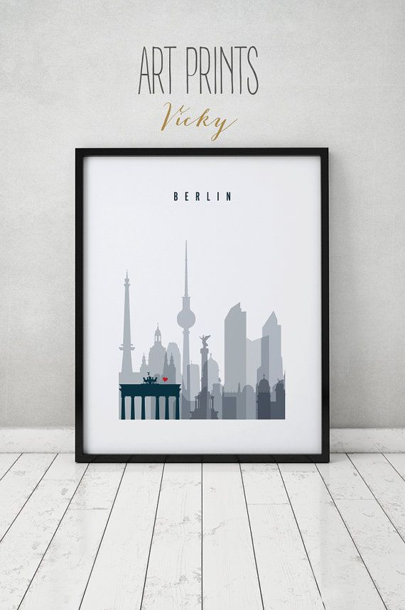 Berlin print Poster Wall art Germany cityscape door ArtPrintsVicky