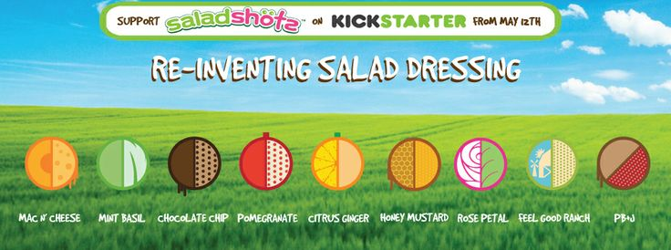 CLICK to read about our #Saladshots Kickstarter & get involved! Here is more info: https://www.kickstarter.com/projects/984793681/saladshots-re-inventing-salad-dressing