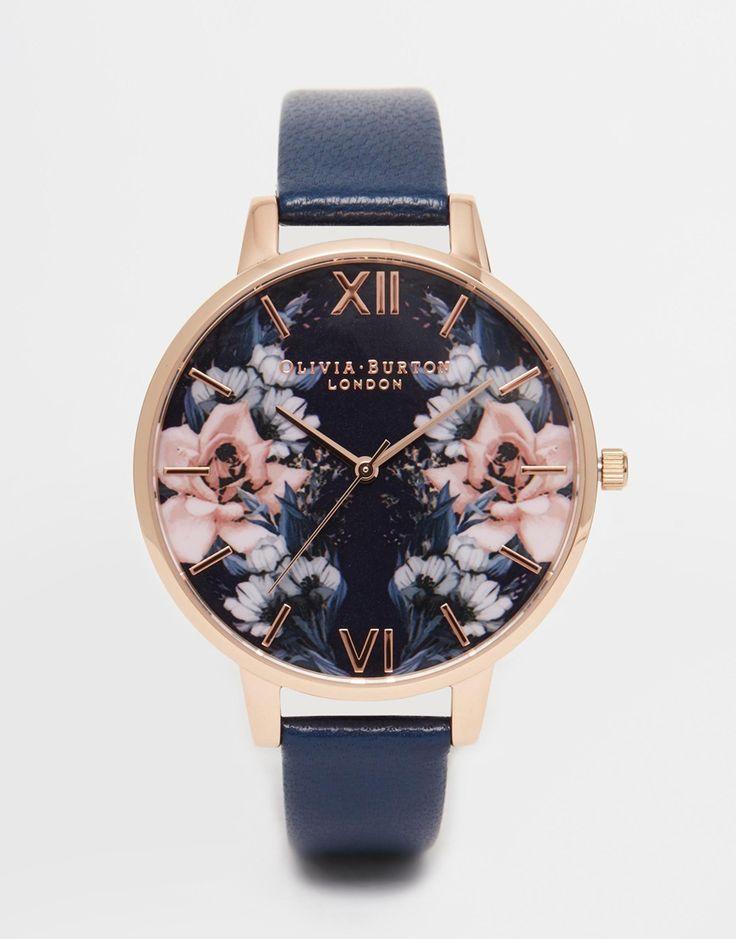 Olivia Burton Floral Big Dial Watch at asos.com | Image 1 - Olivia Burton - Montre à gros cadran fleuri