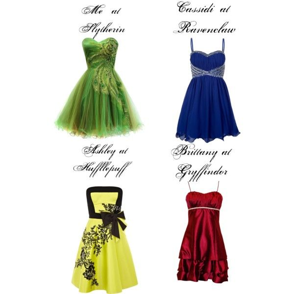 """""""Hogwarts house prom"""" by shules-forever on Polyvore"""