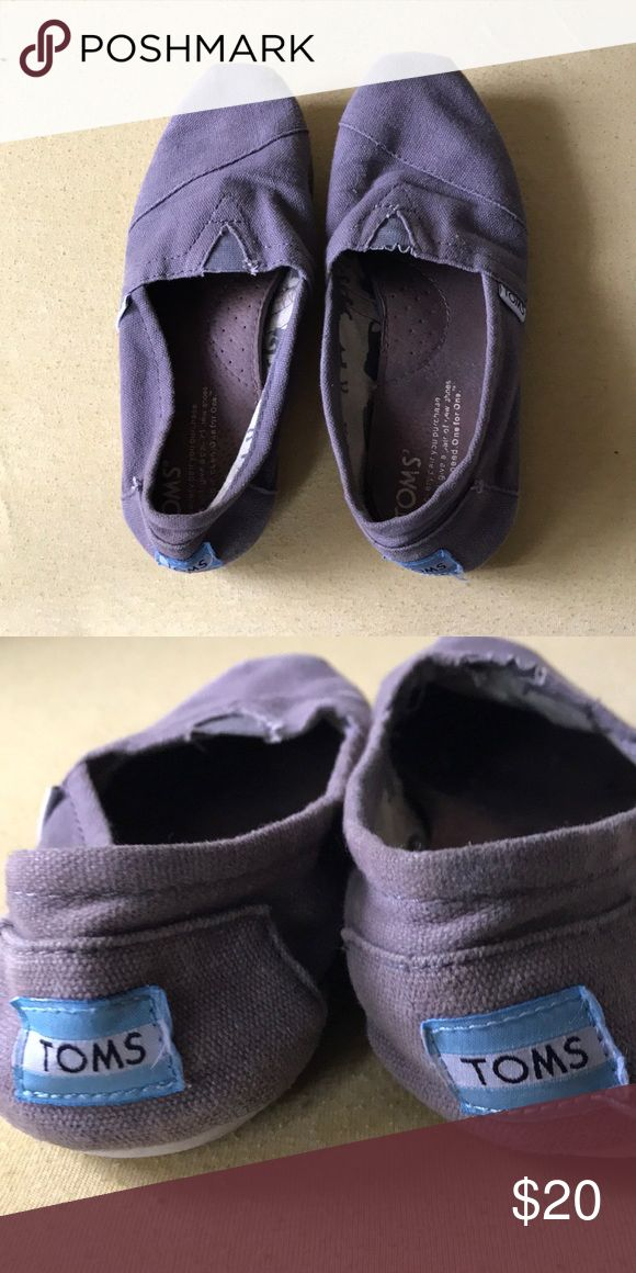 Gray Toms Worn no stains or tears/ women's 6.5 but fits a 7 Shoes Slippers