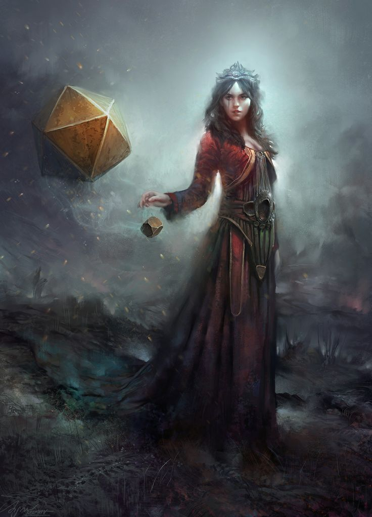 Awesome female magic user, woman wizard, mage. René Aigner