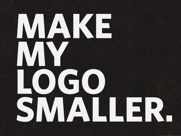 Make my logo smaller.