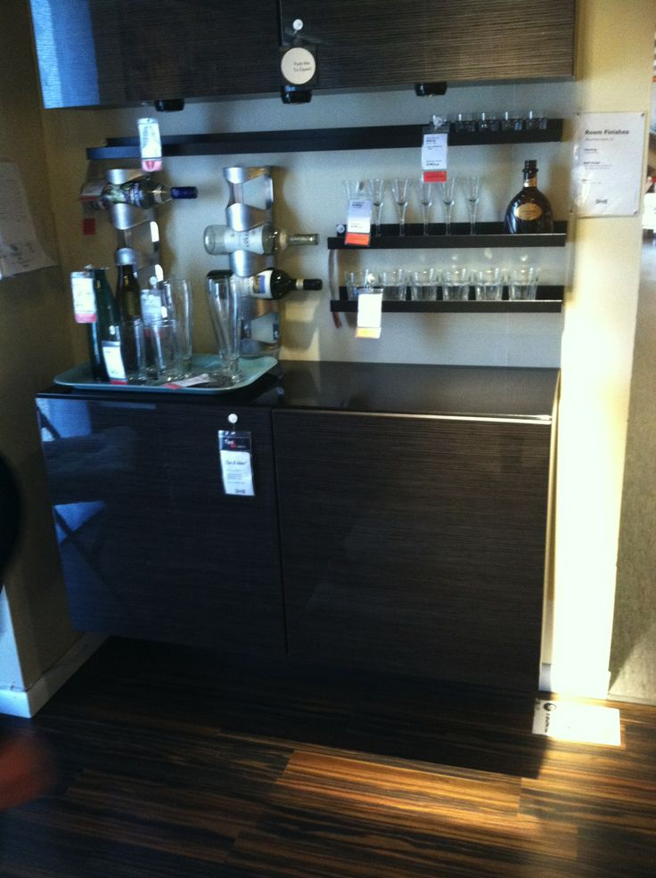 Mini bar idea from ikea bar y tragos pinterest mini bars bar ideas and ikea Home bar furniture ikea