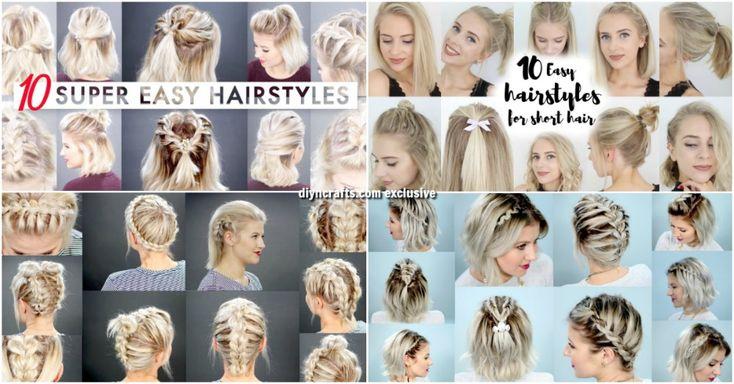 40 Mühelos stressfreie DIY-Frisuren für glamouröses kurzes Haar
