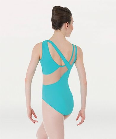 Body Wrappers Tweens/Adult Premiere French Cut Mesh Trimmed Tank Leotard-P838