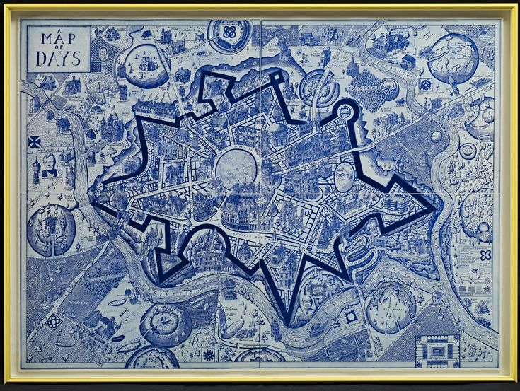Grayson Perry Map of Days 2012-13