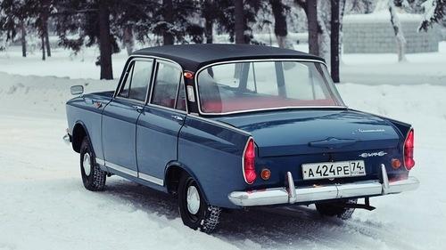 Мoskvich-408. Cheap vinyl roof