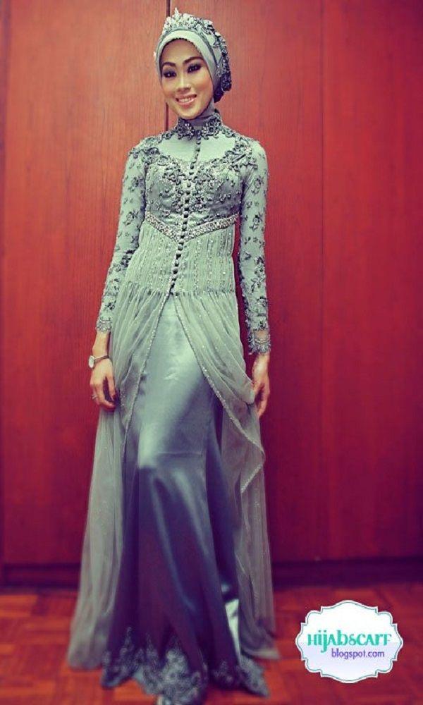 Fancy Party Wear Formal Hijabs with Abaya Collection 2016-2017 (4)