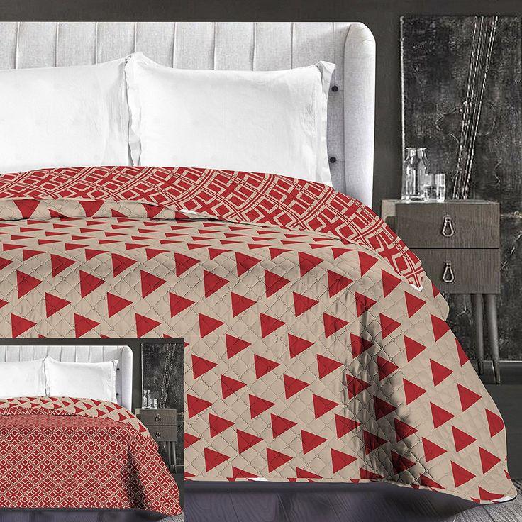 Vzorovaný prehoz na posteľ obojstranný