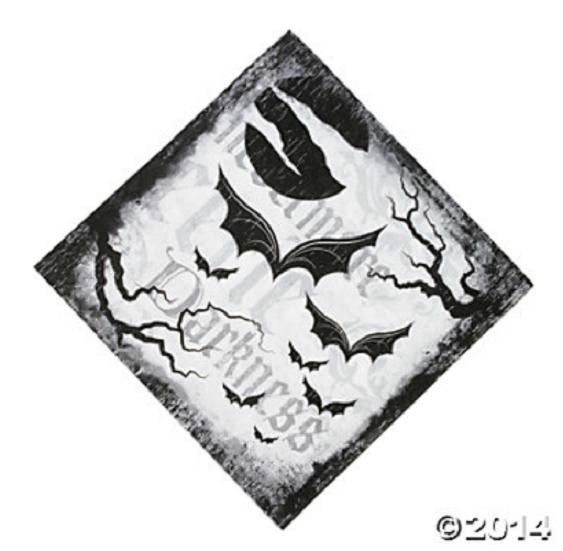 16 HALLOWEEN Party Paper SPOOKY SOIREE Bat Black White LUNCHEON NAPKINS #Party #Halloween