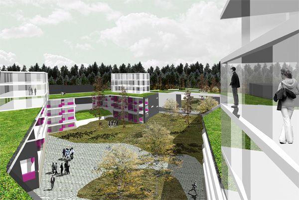 arkkitehtitoimisto siltanen ja laakso - Lohjalle asuinkorttelin ideakilpailu 2008
