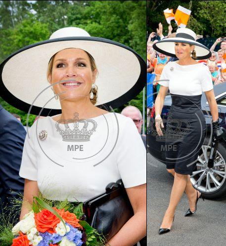Maxima, zwart/witte jurk, duitsland