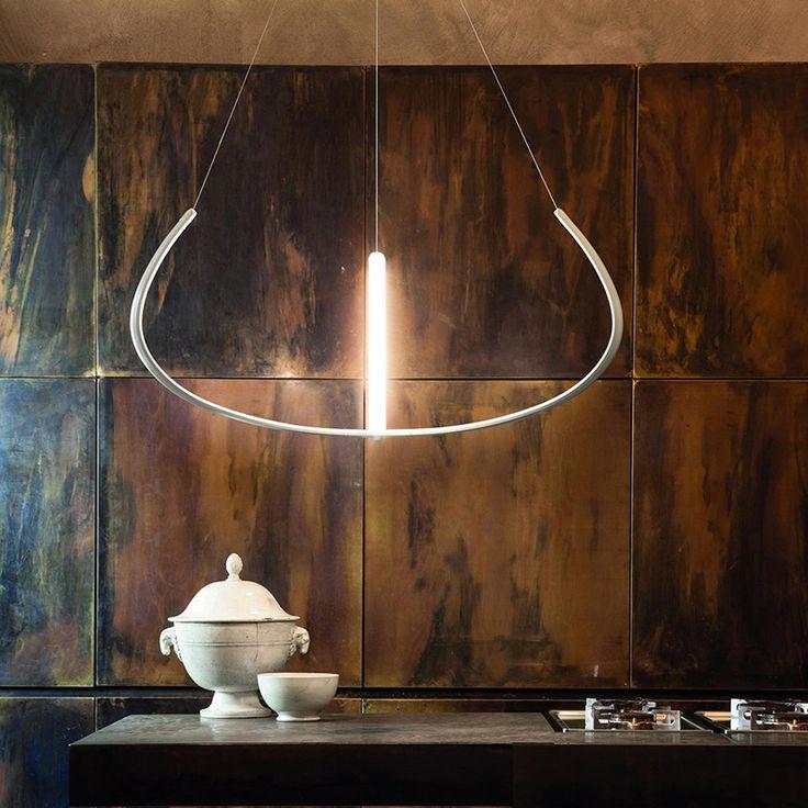 Grande Lampada a sospensione a LED Alya Nemo Lighting di Gabriele Rosa by @NEMO Lighting #design #lighting #nemo #arclickdesign #lamp #lampe