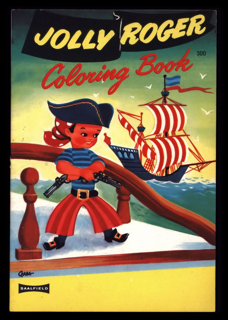 Vintage 1960s Jolly Roger Boy Pirate SHIP Childrens Coloring Book Unused
