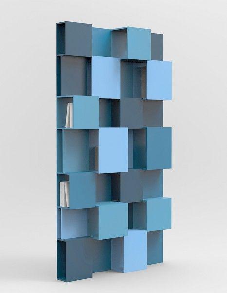 Bibliothèque PIXL, Roche Bobois Avec son camaïeu de bleu et son design déstructuré, cette bibliothèque crée la surprise. Bibliothèque PIXL, Roche Bobois, 1 994,50 € www.roche-bobois.com