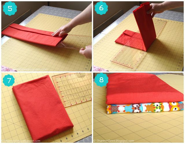 How to fold your fabric: neat and organized.  Have been using this tip for a year and it works great.