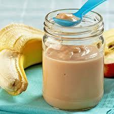Puré de Banana com Macã (+ de 4 meses) | Simplesmente Bebé