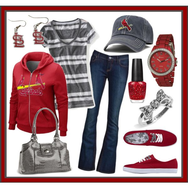 I love this outfit! BIRDS!!: Mlb Game, Cardinals Fan, Stl Cardinals, Louis Cardinals, Cardinals Mlb, Cardinals Baseball, Cardinal Nation, Stl Redbirds, Stl Cards