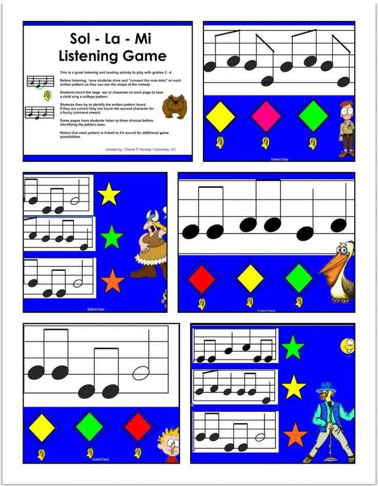 Solfege listening activity for SMARTBoard