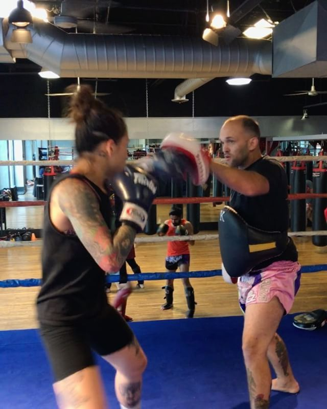 Coach Jessie and Stephanie prepping for her upcoming fight 👊🏼 lets gooooooo #lajollalocals #sandiegoconnection #sdlocals - posted by The Boxing Club  https://www.instagram.com/theboxingclubsd. See more post on La Jolla at http://LaJollaLocals.com