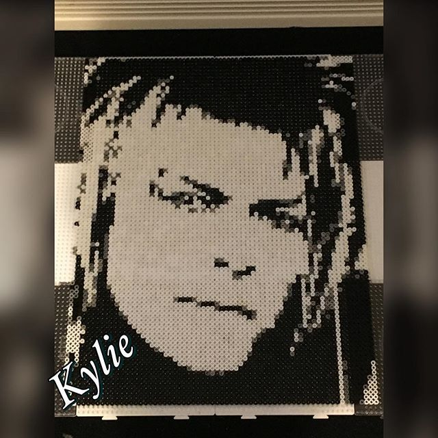 David Bowie - as Jareth the goblin king from The Labyrinth - perler bead portrait by kylie.bead.art