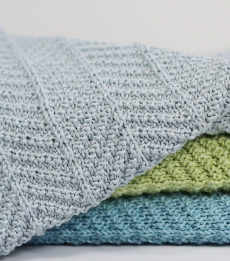 215 best Easy Knitted Baby Blankets images on Pinterest | Hand ...