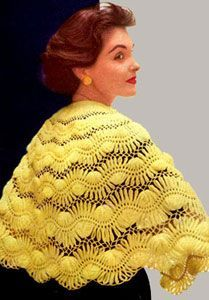 crocheted hairpin lace shawl, for the daring, and if you have an adjustable hairpin lace thing....free pattern
