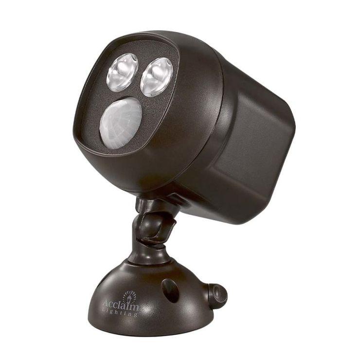 "Acclaim Lighting B295 Battery Operated 6.25"" Tall LED Outdoor Single Head Flood Bronze Outdoor Lighting Flood Lights Single Head Flood Light"