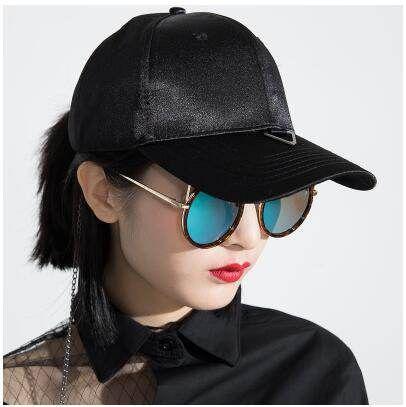 Hip hop chain baseball cap for women UV protection sun hat