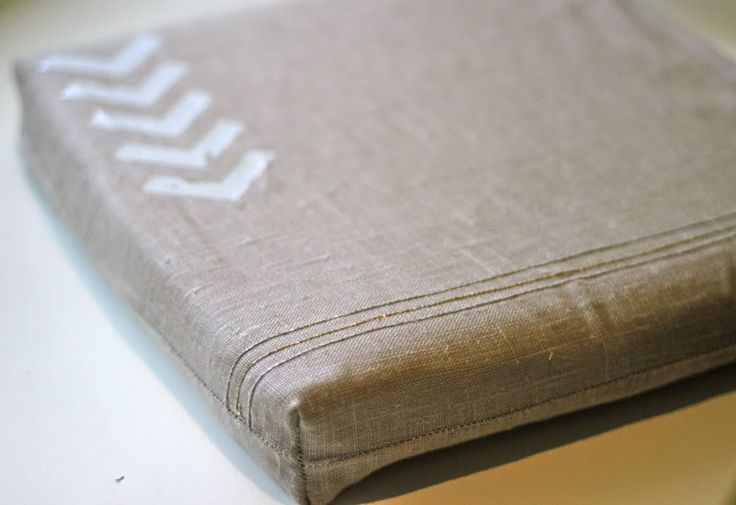 How to Make Dining Chair Cushions [Prudent Baby] - instructions to create gusset for clean corners