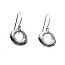 Skinny luck lucky stone earrings  Sterling silver