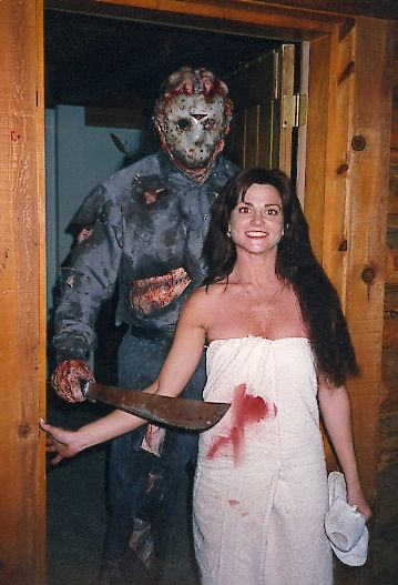 Julie Michaels with Kane Hodder: Friday the 13th Part 9 AKA Jason Goes to Hell: The Last Friday