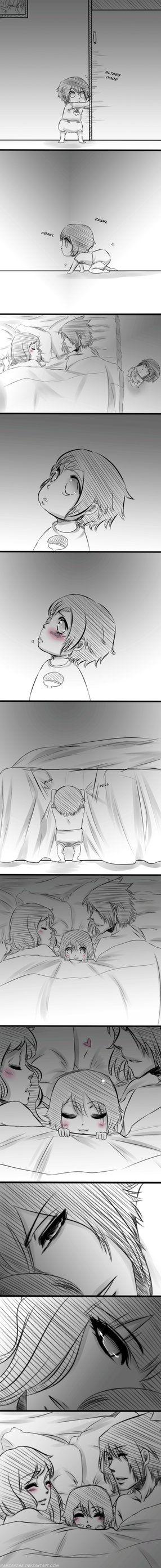 Sasuke, Sakura and Sarada....I swear I don't ship it...but still...with fanart like this...it makes it so hard not to lol