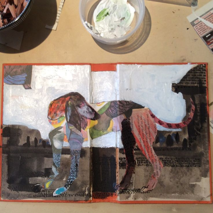 Dido - collage, altered book and mixed media