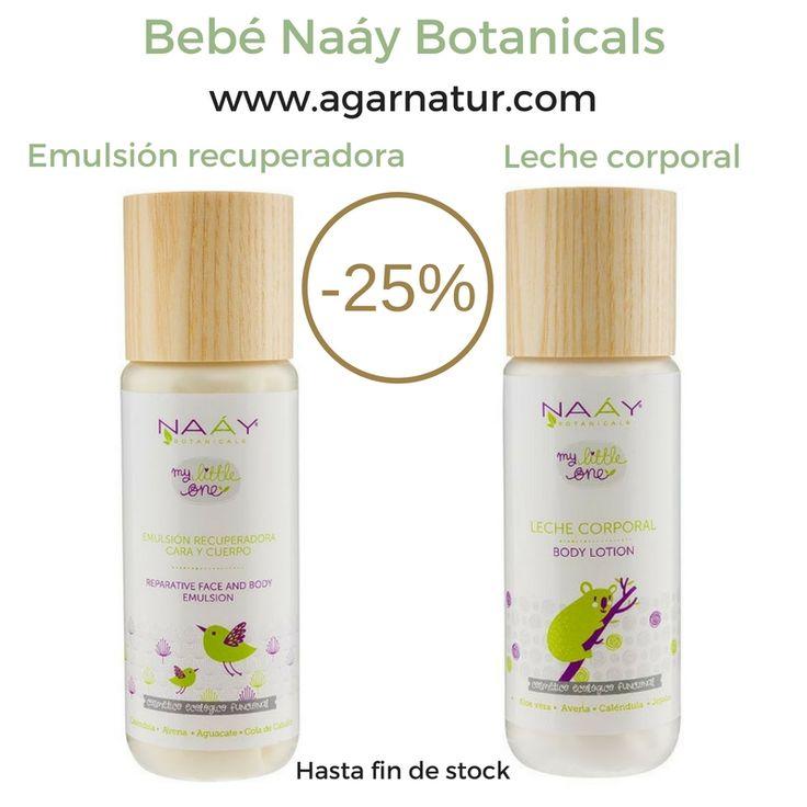 Oferta! -25% en la Leche corporal y la Emulsión recuperadora para #bebé de Naáy Botanicals. Recomendadas para piel sensible, tanto de bebé como para dermatitis atópica, picores, irritaciones o piel seca. Entra en ofertas de Agar Natur #cosmeticanatural #cosmeticaecologica #agarnatur #bebe #pielsensible #irritaciones #piel #cuidadodelapiel #dermatitis #naaybotanicals
