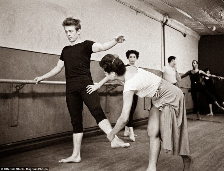 vintage everyday: James Dean attending a dance class. NYC, 1955