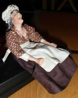 client happy on beer ( doll by Nancy Cronin, dressed by me)