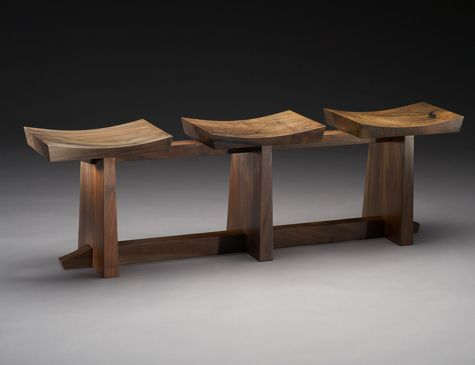 Brian Hubel- Fine Wood Furniture - Bench