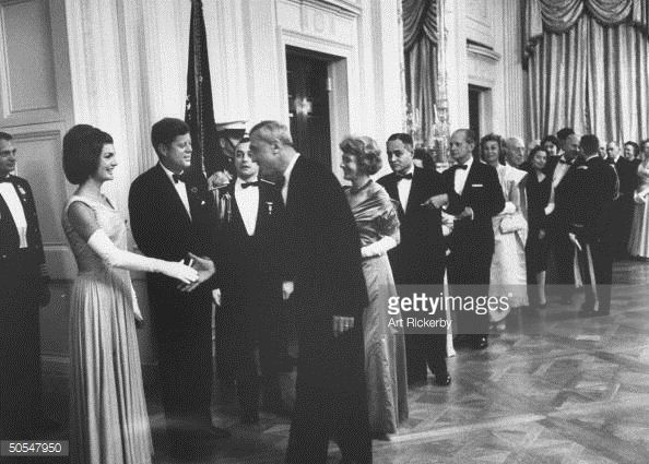 Ralph J. Bunche;John F. Kennedy [& Wife];Felix Bloch [& Wife]