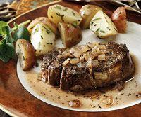 Beef Tenderloins with Wine Sauce and Oven Roasted Potatoes - Black Girl Nerds