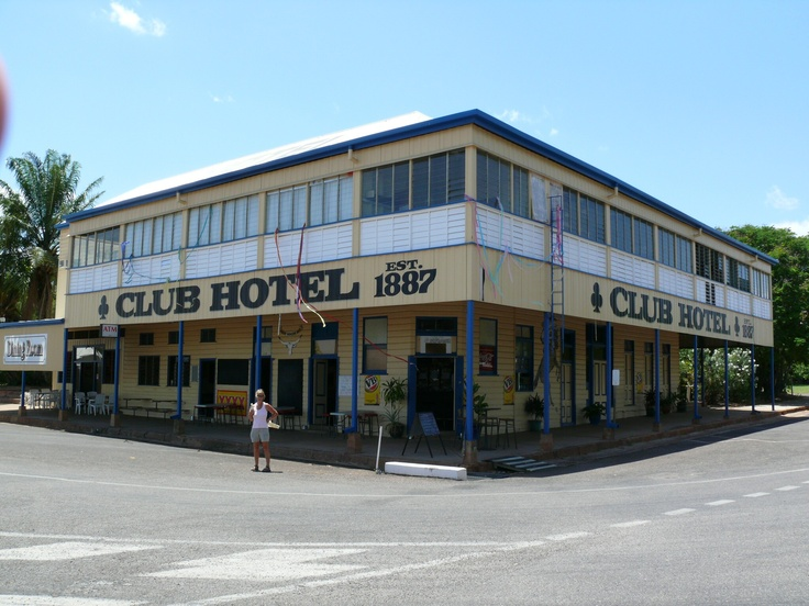 The Club Hotel is in Georgetown, Queensland on the road from the coast to Normanton on the Gulf of Carpentaria