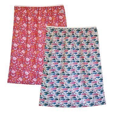 2-pack Reusable Cloth Diaper Pail Liners, Sea & Fish