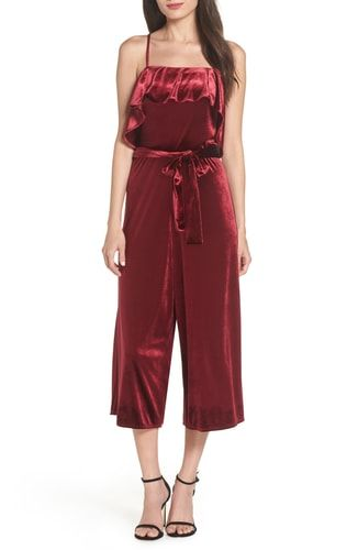 28af83aa8ac7 New Avec Les Filles Velvet Cropped Jumpsuit online.   138  trendytopstyle  offers on top store